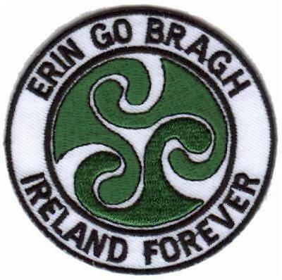 Ireland Forever - Erin Go Bragh - Embroidered Patch Badge - Iron-on or Sew