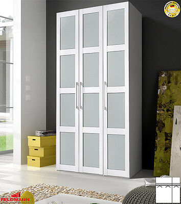 arte m kleiderschrank schrank 4 t rig eiche s gerau milchglas 202cm neu at 6 eur 599 00. Black Bedroom Furniture Sets. Home Design Ideas