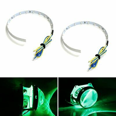 Green 15-SMD High Power LED Demon Eye Halo Ring Kit For Headlight Projector Lens