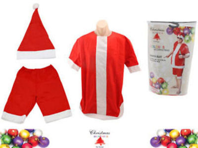 Aussie Summer Santa Suit  Short sleeve top Shorts Christmas One Size Fits Most