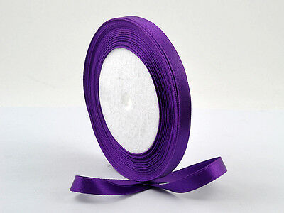 5 Yards 6mm Violet Satin Ribbon Craft Embroidery Scrapbook 1/4 ""