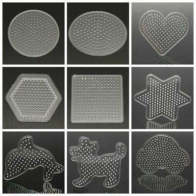 Kids Small Pegboards for Perler Bead / Hama Fuse Beads Clear Square Design Board