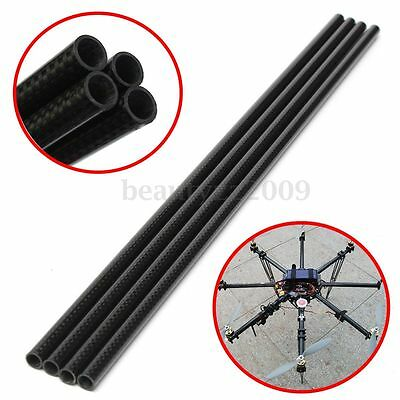 1Pc Roll Wrapped Carbon Fiber Tube 3K 8mm x 10mm X 500mm For Multicopter DIY