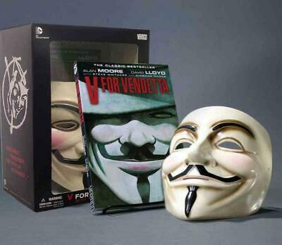 V for Vendetta Book and Mask Set by Alan Moore (English) Paperback Book Free Shi