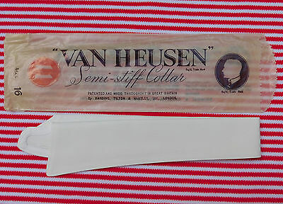 British Van Heusen collar 16 semi-stiff Vintage 1920s UNUSED separate detachable