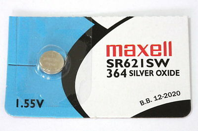 Maxell SR621SW (364) Japanese silver oxide 1,55V watch battery