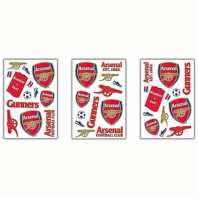 Arsenal Fc 34 Pieces Wall Stickers New Kids Bedroom Theme