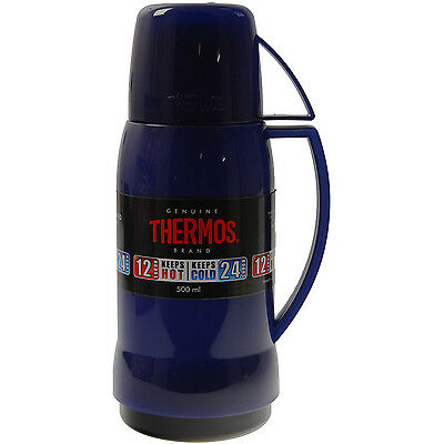 Thermos Jupiter 500ml Translucent Blue Glass Lined Insulated Vacuum Drink Flask