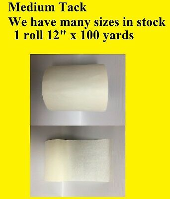 "1 Roll 12"" x 100 Yards Application Transfer Tape Vinyl Sign Adhesive R TAPE USA"