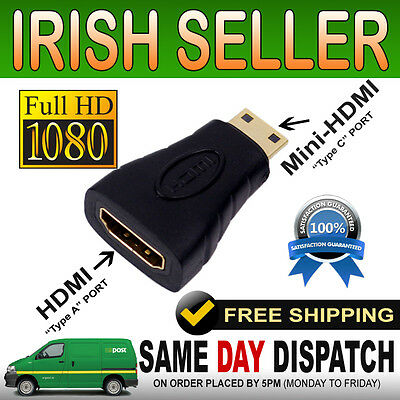 Gold Plated HDMI Female to Type C Mini HDMI Male Adapter Converter Connecter HD