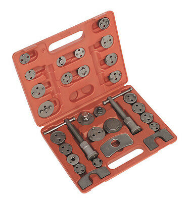 Sealey 30 Piece Brake Piston Wind Back Tool Kit Covers Many Models -  Vs0285  **
