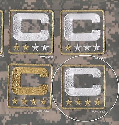 82fbe4d37c7 NFL SALUTE TO SERVICE CAMOUFLAGE CAPTAINS PATCH FOUR-4-STAR ACU DIGITAL  white C