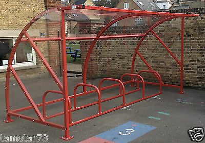 Cycle Bike Shelter School Storage Parking Galvanised Steel Frame Sheffield Stand
