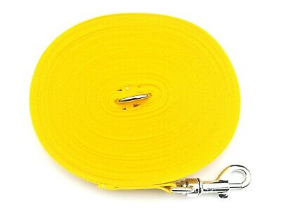 100ft Long Dog Training Lead,Obedience,Recall,Leash,Large 25mm Yellow Webbing