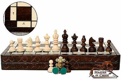 "TOP QUALITY ""OLYMPIC"" TOURNAMENT WOODEN CHESS SET 35x35cm! SUPERB HANDICRAFT !!!"