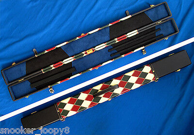Speical Offer - Handmade 3 Compartments Quality Wide 3/4 Cue Case