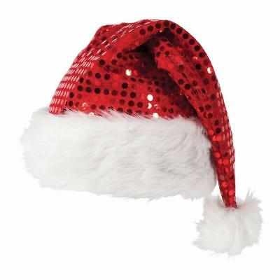 ADULT/Kid DELUXE SEQUIN CHRISTMAS XMAS PARTY SANTA FANCY DRESS COSTUME HAT lot