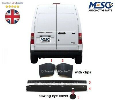 Ford Transit Connect Rear Bumper + Bumper Cover + End Caps + Clips 2002-2013
