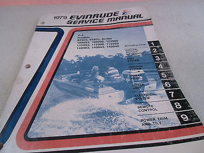 1979 Evinrude Service Manual V-4 Models  85995 85990 85999 100993 100990 100999