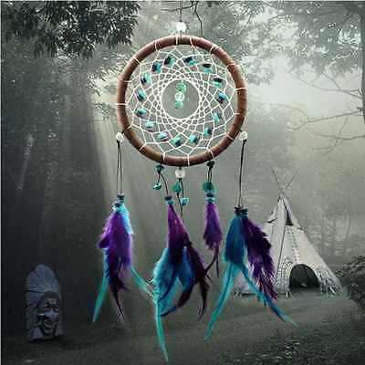 Feather Leather Bead Dream Catcher Door Ornament Hanging Decoration Gift 40cm