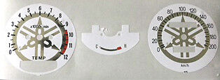 Yamaha Rd250Lc Rd350Lc Speedometer + Tachometer Face Restoration Decals White 4