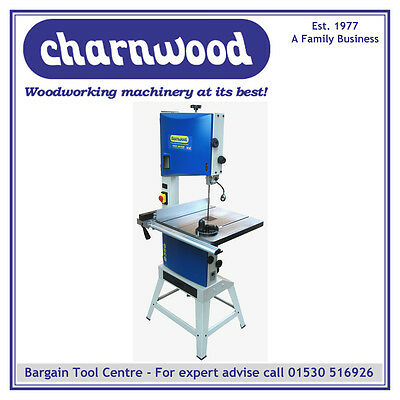 """New Model Charnwood B350 14"""" Premium Woodworking Bandsaw With 9"""" Depth Of Cut"""