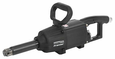 "Sealey SA687 Air Impact Wrench 1""Sq Drive Twin Hammer Straight Long Anvil"