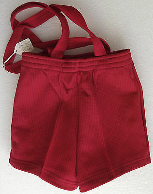 Vintage boys shorts Red check Straps Age 4 UNUSED 1960s  LADYBIRD cotton/nylon