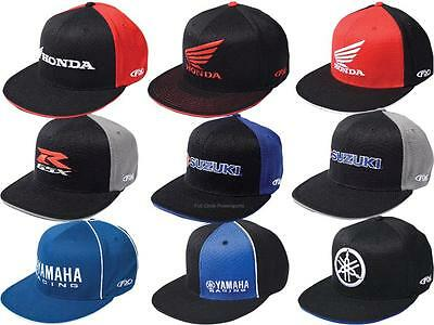 FX Mens Guys FlexFit Hat Ball Cap Japanese Motorcycle Brands Honda GSXR  Yamaha 31f65f2d6f7