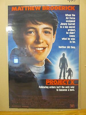 vintage 1987 Project X movie large poster Matthew Broderick air force 11225