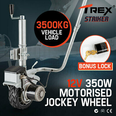 T-REX Motorised Jockey Wheel Electric Power Mover 12V 350W Caravan Trailer Boat