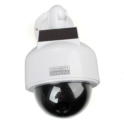CCTV Security Camera Dome Fake Surveillance Flashing LED Dummy Solar Powered NEW