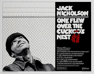 """""""One Flew Over The Cuckoos Nest"""" Classic Movie Poster Various Sizes"""