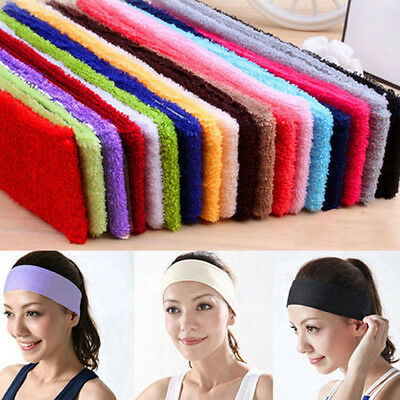 Stylish Women 14 Colors Terry Cloth Cotton Headbands Yoga/Gym/Workout Sweatbands