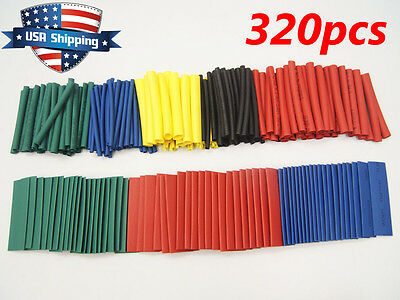 320pcs Heat Shrink Tubing Assortment Wrap Electrical Connection Cable Sleeve