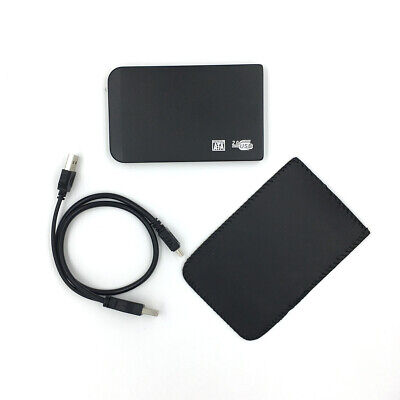 """New 320GB External Portable 2.5"""" USB Hard Drive With Warranty Free Pouch"""