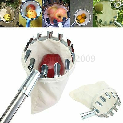 Fruit Picker Picking Apple Orange Mango Tree Grab Basket Bag Cloth Handheld Tool