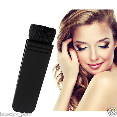 NEW Professional Cosmetics Tool Flat Contour Blusher Kabuki Blush Brush Makeup