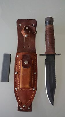 Vietnam war Pilots Survival Knife With Leather Sheath