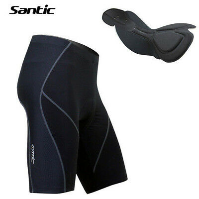 SANTIC Men 4D Padded Tight Cycling Shorts Casual Bicycle Bike MTB Short Pants