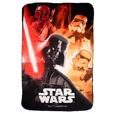 Childrens Star Wars Fleece Blanket featuring Darth Vader and Stormtroopers