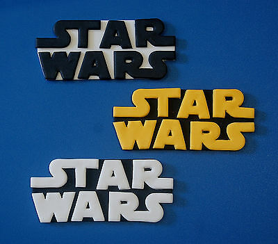 Star Wars Edible Cake Topper Logo X 1 - Choose Your Size And Colours