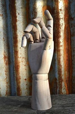 Fantastic Right Wooden Articulated Hand Ornament Artist Drawing Hand