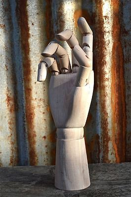 Fantastic Right Wooden Articulated Hand Ornament Artist Drawing Hand Uk Seller