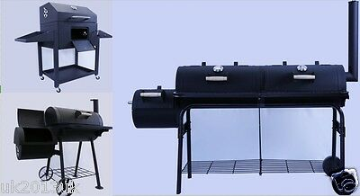 Black superb BBQ Charcoal Grill Barbecue Smoker Garden Outdoor Cooking Steel
