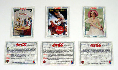 1994 Collect-A-Card The Coca-Cola Collection Series 2 Promo Card Set (3) Nm/Mt