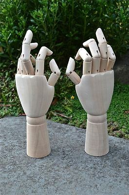 Pair Of Fantastic Carved Wooden Articulated Hand Artist Hands Real Uk Seller