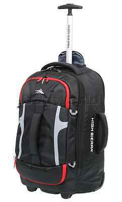 NEW HIGH SIERRA Composite 56cm Wheeled Duffle Backpack Carry on Cabin Bag  BLACK