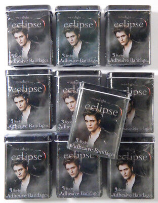 Lot of (10) Sealed Tins * The Twilight Eclipse Edward Cullen Bandages