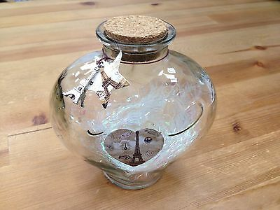 Heart Shaped Jar Glass Favor Bottle with Cork- 4""